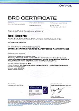 BRC CERTIFICATE 2017